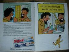 HERGE - TINTIN  : pub pour dentifrice SIGNAL en 1986