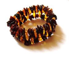 Bracelet artisanal en pépites d'ambre naturel de la baltique