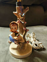 Vintage Apple Tree Girl #229 Hummel Lamp TMK-3 Stylized Bee 1960-1972