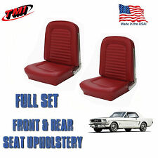 1964 &1965 Mustang Fastback Seat Upholstery Red Front & Rear-IN-STOCK!!