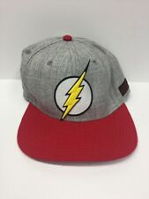 DC Comics The Flash Hat New With Tags Gray Red Adjustable Back