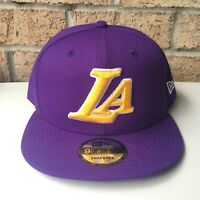 9Fifty New Era NBA Los Angeles Lakers SnapBack Hat - Purple