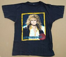 Whitesnake Europe Tour 1990 Vintage T-Shirt Thin Lizzy/Aerosmith/Winger Top Rare