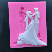3D Wedding Silicone Fondant Mould Cake Mold Soap Chocolate Baking Kitchen