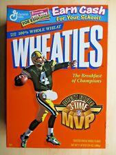 GREEN BAY PACKERS BRETT FAVRE 3 TIME MVP  WHEATIES BOX 1999 - D