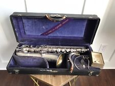 Vintage Silver Conn C Melody Saxophone Sax Orig. Case Beautiful Engraving 359XX
