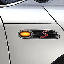 SCHWARZE LED Seitenblinker BMW Mini One D Cooper S JCW GP-Kit Cabrio R50 R52 R53