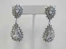 Rhinestone Clip-On Costume Earrings