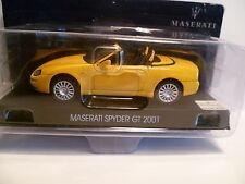 MASERATI  SPYDER GT JAUNE de 2001 ~  NEUF