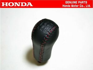 HONDA GENUINE  96-01 PRELUDE BB SIR 5MT Leather Red Stitching Shift Knob OEM