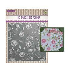 Roses 3D Embossing Folder Nellie Snellen Craft Folders Flowers,Floral 6x6