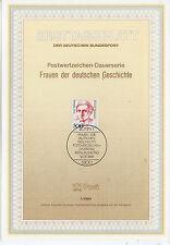 Alemania Hojita Primer Día Mujeres Celebres año 1989 (CR-147)