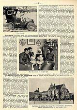 Motor- Hansom Die neue Taxometer-Droschke in Berlin Text+Bild von 1903