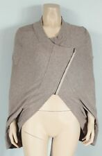 Anthropologie HEATHER By BORDEAUX Beige Asymmetric Jersey Knit Cape, Size P XS