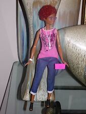 Tall Barbie Doll Clothes Denim Crop Jeans Pink Top Black Shoes Sunglasses & More