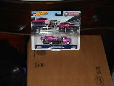 Hot Wheels Team Transport 68 Dodge Dart And Huler In Pink And Nice Set Here!