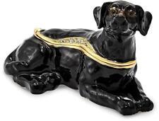 Bejeweled Schwarzer Labrador Schmuckkästchen
