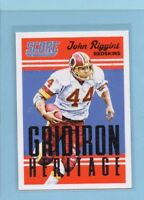 2015 Score John Riggins Washington Redskins Gridiron Heritage Original INV0078