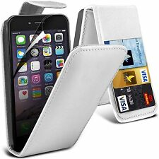 "Apple iphone 6 6s + plus 5.5"" PU Leather wallet flip case pouch cover White"