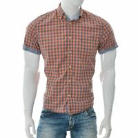Marc O'Polo Men's Regular Fit Button Down Casual Shirt Short Sleeve Size M Check