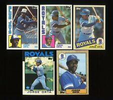 1984-1987 TOPPS TIFFANY JORGE ORTA TORONTO BLUE JAYS KANSAS CITY ROYALS