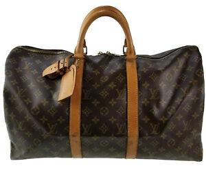 Louis Vuitton LV Monogram Keepall 50 M41426 travel bag used 4-74-A17
