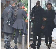 '10 ICONIC Alexander McQueen BLACK wool asymmetric hem ASO Kelly Roland coat