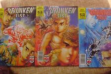 Lote de 3 Comics, nº 8, 9 y 10, Drunken Fist, Jademan Comics, Forum Comics, 1991