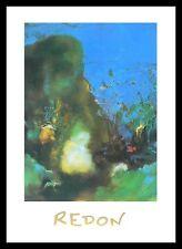 Odilon Redon Ruggero e Angelica poster immagine stampa d'arte nel quadro in alluminio 50x70cm