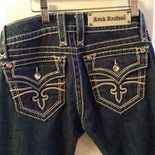 $179 Rock Revival Women Denim Jeans pants CELINE boot cut FLEX STRETCH   27 x 33