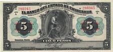 A   SAISIR   BILLET   DE  5   PESOS    1913   .  MEXIQUE   .  SUPERBE