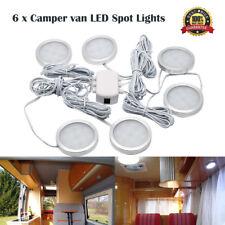 6X LED Plafoniera 12V Camper Lampada Luci Interno per Auto VW T4 T5 Bianco Caldo