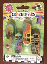 Crazerasers Series 3 Skateboard Collectible Puzzle Erasers (4 Per Pack) Nip