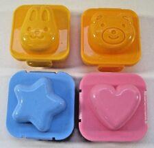 Williams-Sonoma Egg-Design Molds Bento Lunch Bunny Bear Heart Star Plastic Kids
