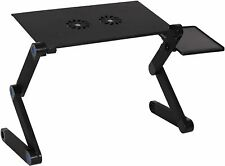 Foldable Aluminum Laptop Desk Adjustable Portable  Table Stand(No Cooling Fan)