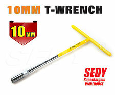 10mm Socket T-Bar Long Handle Wrench Spanner Hex Key Opener Wheel Nuts Remover