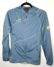 Women's MAMMUT SOFTSHELL WINDSTOPPER Blue Jacket/Jumper size XS EUC