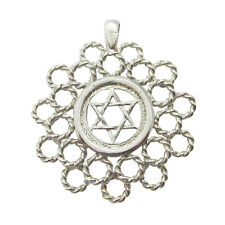 925 Silver Fancy Large Solid Star of David Magen David Pendant