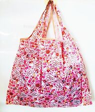 Cute Hello Kitty Large Food FOLDABLE SHOPPER TOTE BAG Handbag Pink Shopping Bag