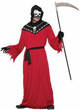 Adult Red/Black Demon Reaper Costume One Size