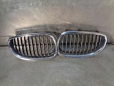 BMW E60 E61 2004-2010 530D LCI 530d MSport Pair front chrome kidney grilles