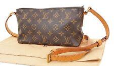 Authentic LOUIS VUITTON Trotteur Monogram Crossbody Shoulder Bag Purse #36410
