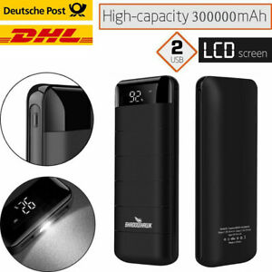 300000mAh LED Anzeige PowerBank Zusatzakku Batterie Ladegeräte für alle Handys