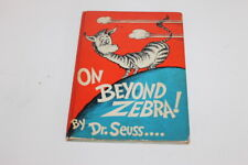 DR. SUESS ON BEYOND ZEBRA 1st Edition Dr Seuss HC DJ Random House C#7