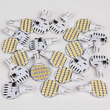 20x Super Bright 4.8w Warm White T10 921 RV Marine Wedge 24-SMD LED Light Bulbs