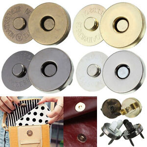 Magnetic Clasp Purse  Closures Round Sewing Button Bag Press Studs Thin