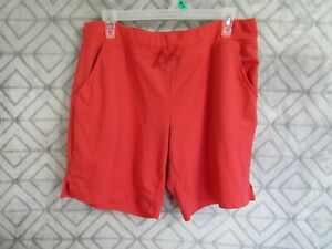 Athletic Works Shorts Size L 12 14 Red Elastic Waist Side Pockets Casual