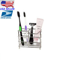 NEW Stainless Steel Bathroom Toothbrush Toothpaste Holder Razor Stand Househol