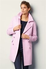 BNWT Next Pastel Dusty Pink Double Breasted Coat Size UK 10 RRP £75.00