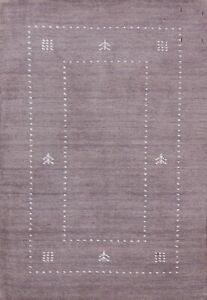 Gabbeh Bordered Contemporary Oriental Area Rug Wool Hand-knotted Carpet 2x3 ft